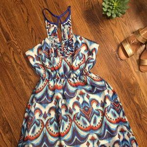 bebe // high-low dress